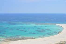 Picture from the helicopter flight, look at this lovely beaches
